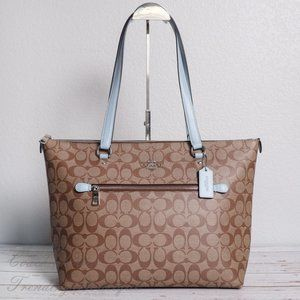 NWT Coach Gallery Tote in Signature Canvas